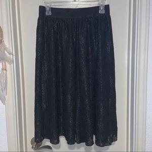 LuLaRoe Lola Black Lace Skirt
